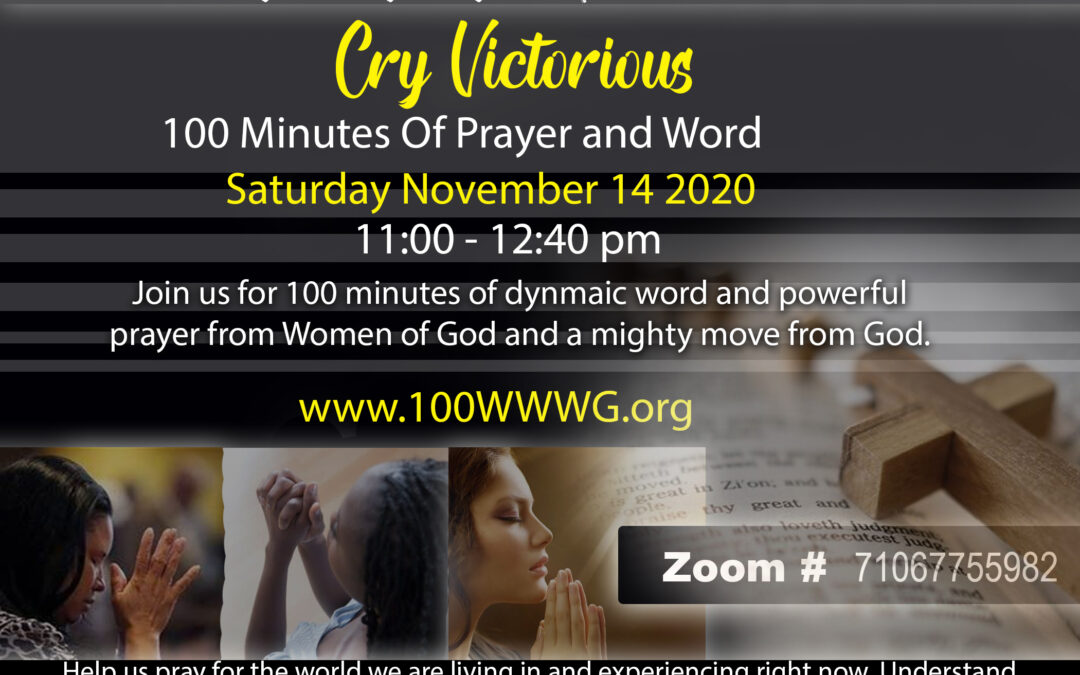 100 Minutes Of Prayer Virtual Event
